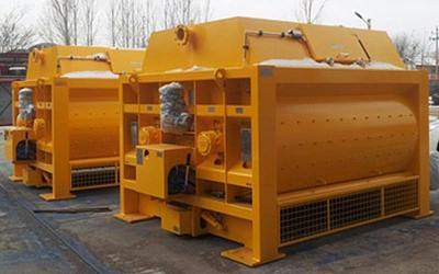 JS2000 twin shaft forced concrete mixer