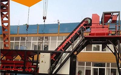 Mobile concrete mixing plant YHZS40
