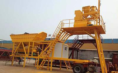 Mobile concrete mixing plant YHZS50