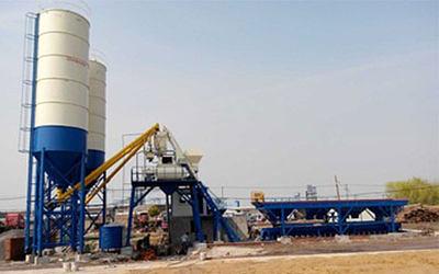 75m³/h hopper lifting concrete batching plant